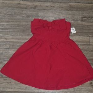 Strapless Red Bow Bust Dress